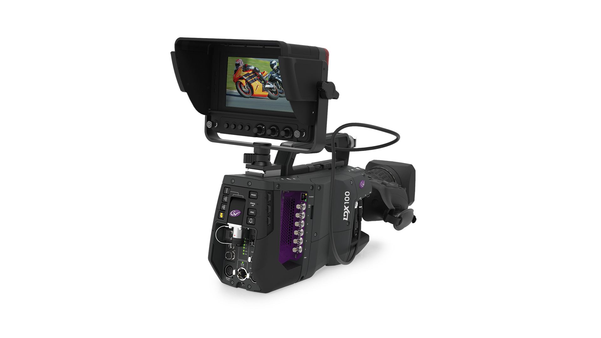 VF7-100X Viewfinder on LDX 100 Camera